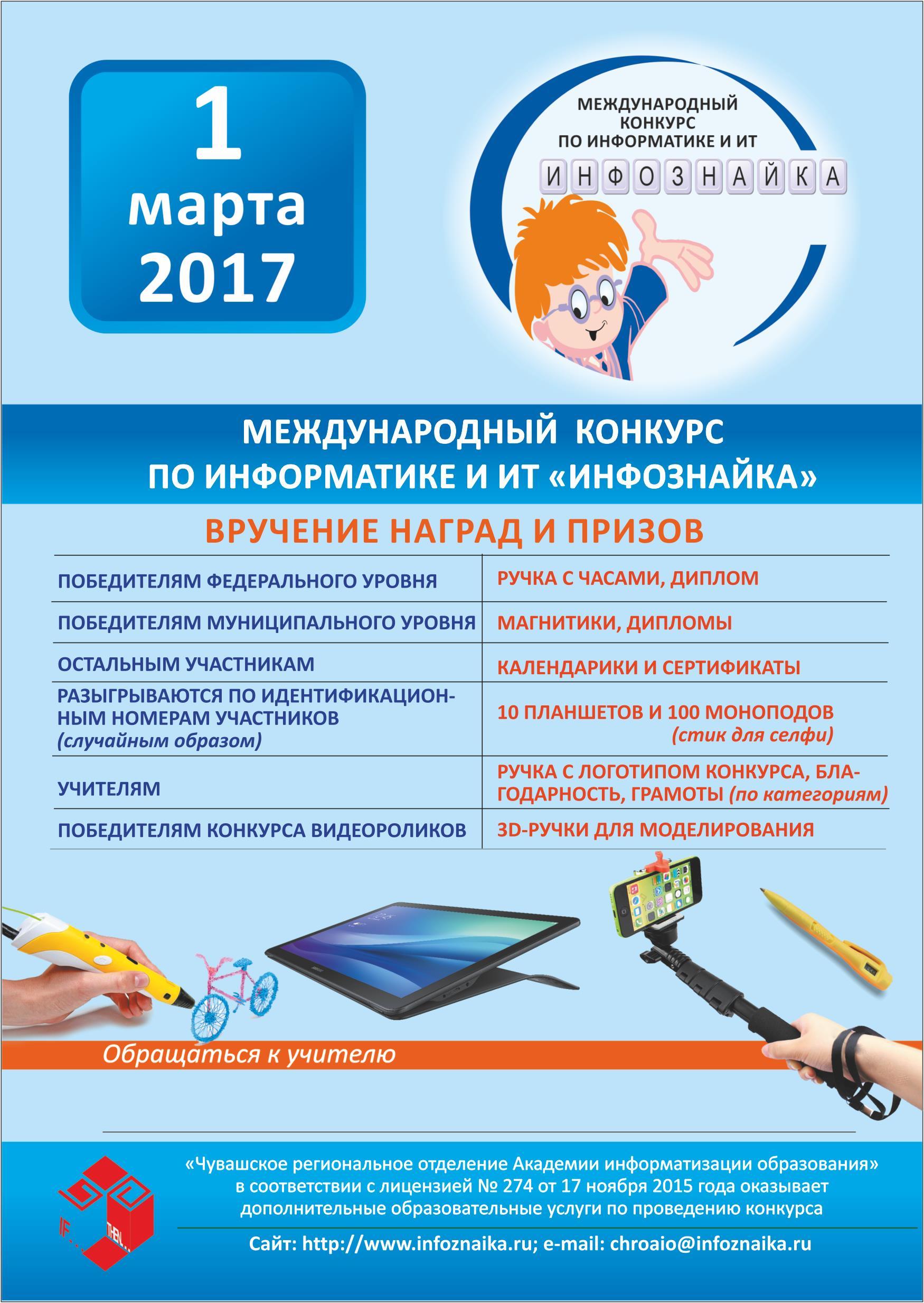 Олимпиады и конкурсы по информатике 2017